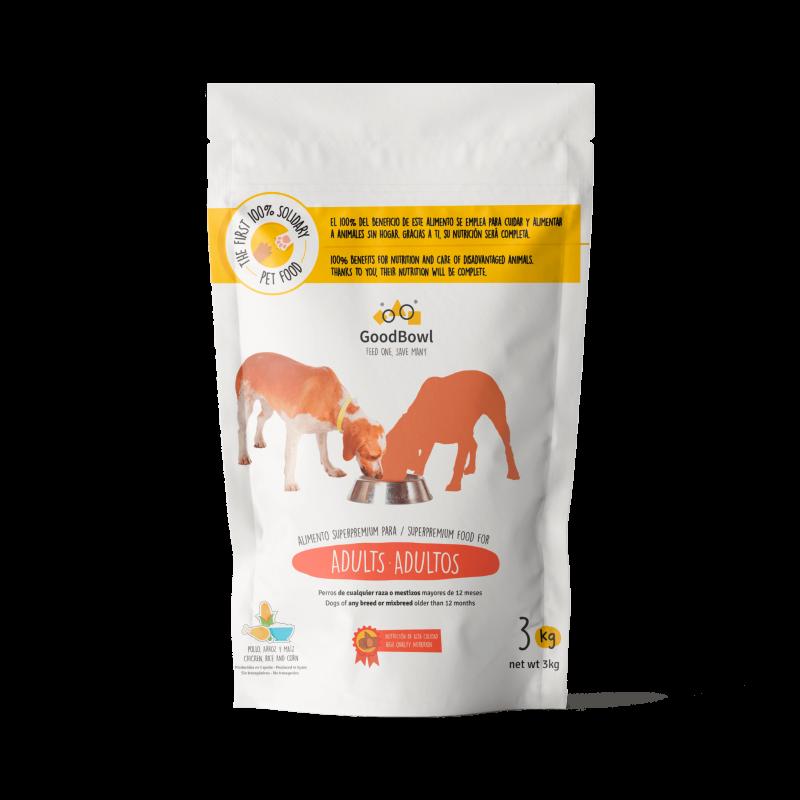 Futter für ausgewachsene Hunde - 3Kg